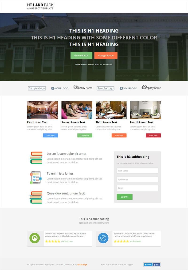 ht land university landing page templates group. Black Bedroom Furniture Sets. Home Design Ideas